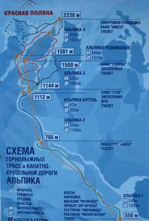 Альпика - трассы - Красная Поляна